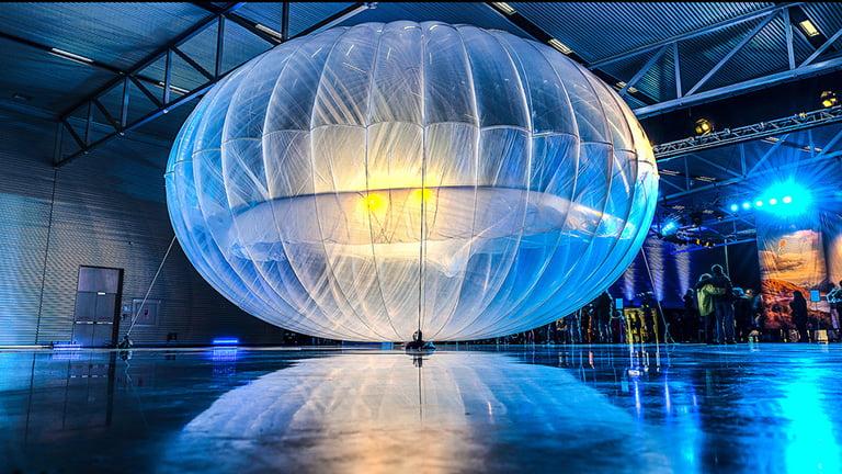Project Loon için kullanılan balonlardan birisi