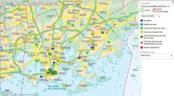 Helsinki'de ücretsiz kablosuz internet bulunan alanları harita üzerinden görüntüleyebiliyorsunuz.