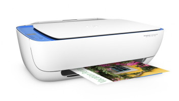 HP Deskjet Ink Advantage 3635 All-in-One Printer, Right facing, with output