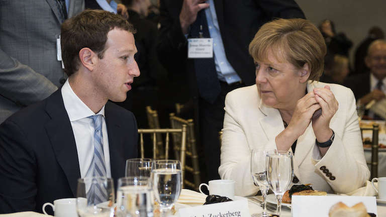 facebook mark zuckerberg angela merkel
