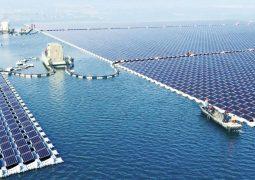 Çin yüzen güneş enerjisi tarlası kurdu
