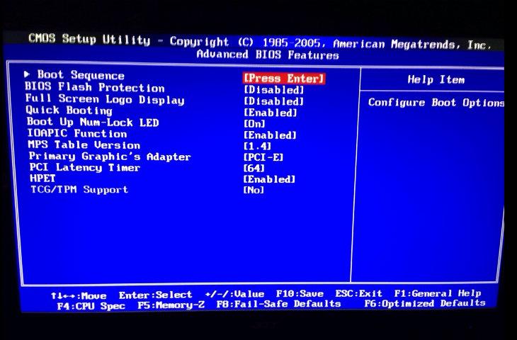 Intel BIOS
