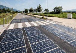 güneş enerjili yollar