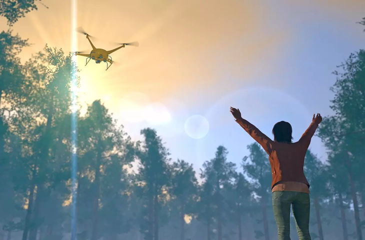 arama kurtarma için drone