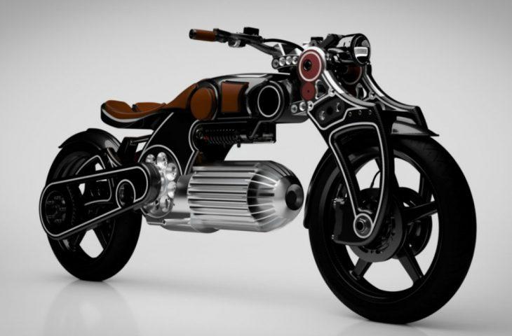 Fütüristik elektrikli motosiklet
