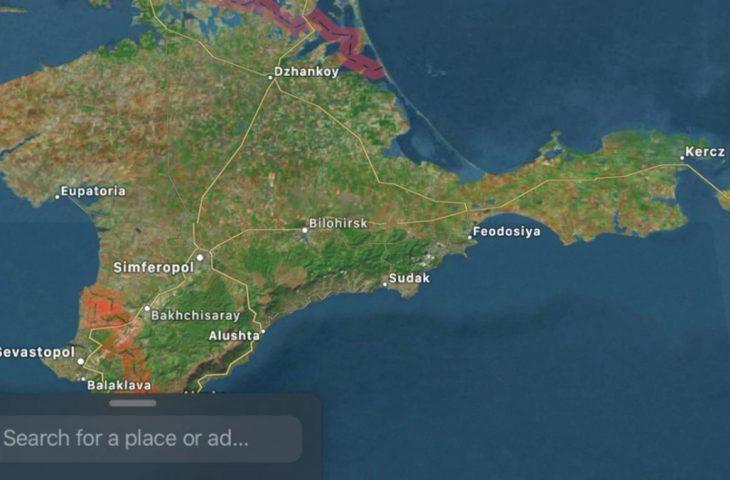 Apple Rusya haritası
