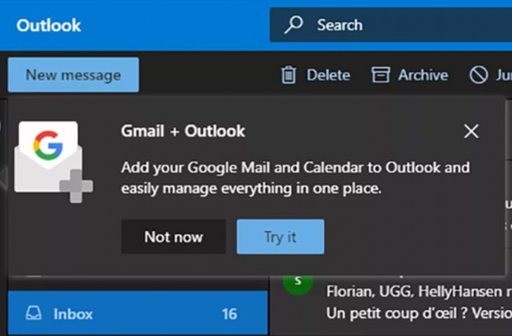 Outlook ile Gmail