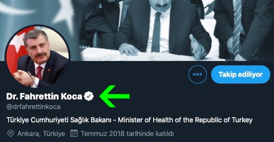 Fahrettin Koca Twitter