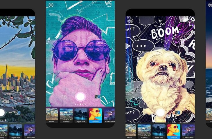 Adobe Photoshop Camera uygulaması