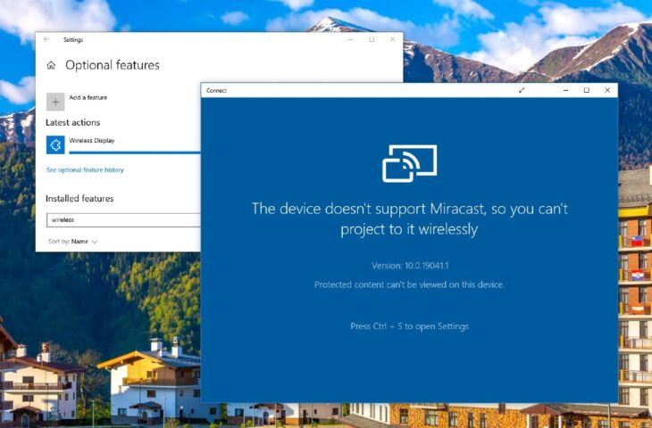 Miracast Connect uygulaması