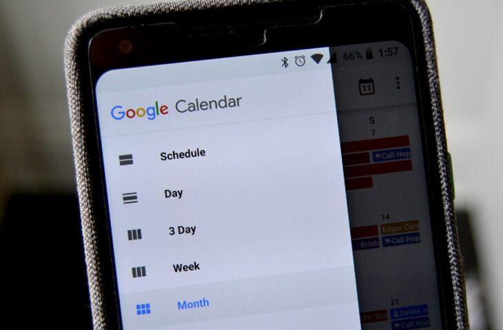 Google Takvim uygulaması