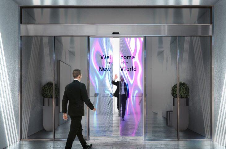 şeffaf LG OLED