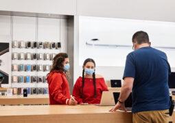 Apple mağazaları maske